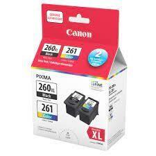 Canon PG-260XL Black / CL-261 Color Ink Cartridge Value Pack