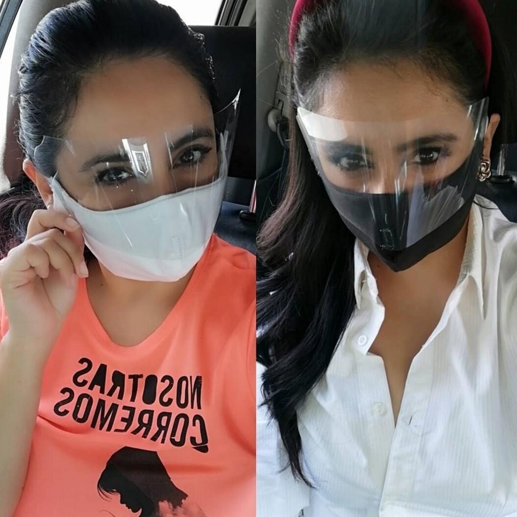 Cubre bocas con protector facial