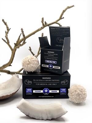 High Heals Truffles - 100 mg or 400 mg THC - Coconut Heaven