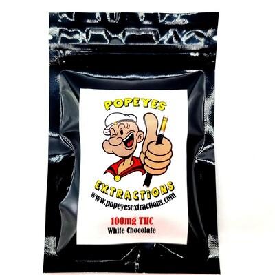 Popeyes Extractions Mini Chocolate Bar 100mg THC