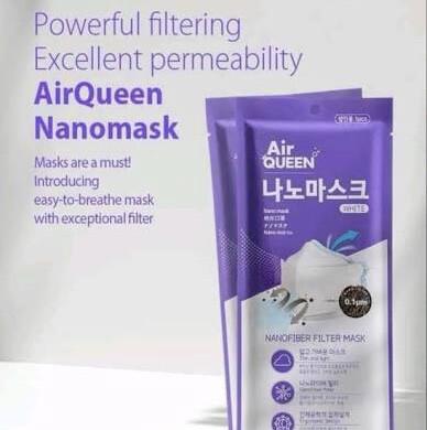 Air Queen Nano Filter Mask (Black)