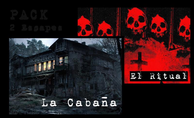 Pack 2 Escape Rooms: La Cabaña y El Ritual