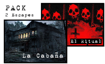 Pack 2 Escape Rooms: La Cabaña y El Ritual