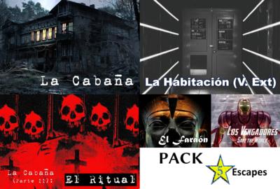 Pack Escapistas 5 Escape Rooms Imprimibles