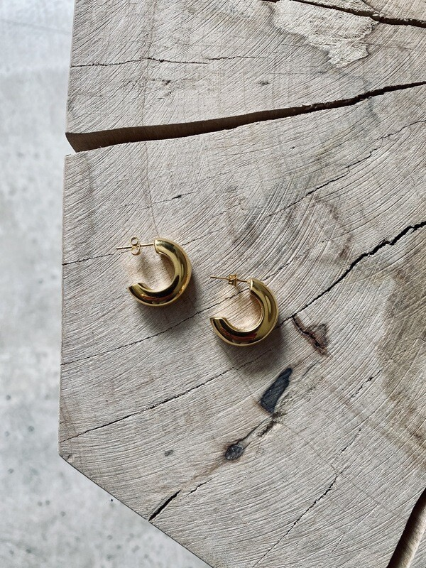 by  LC studio Chunky Small Hoops Earring