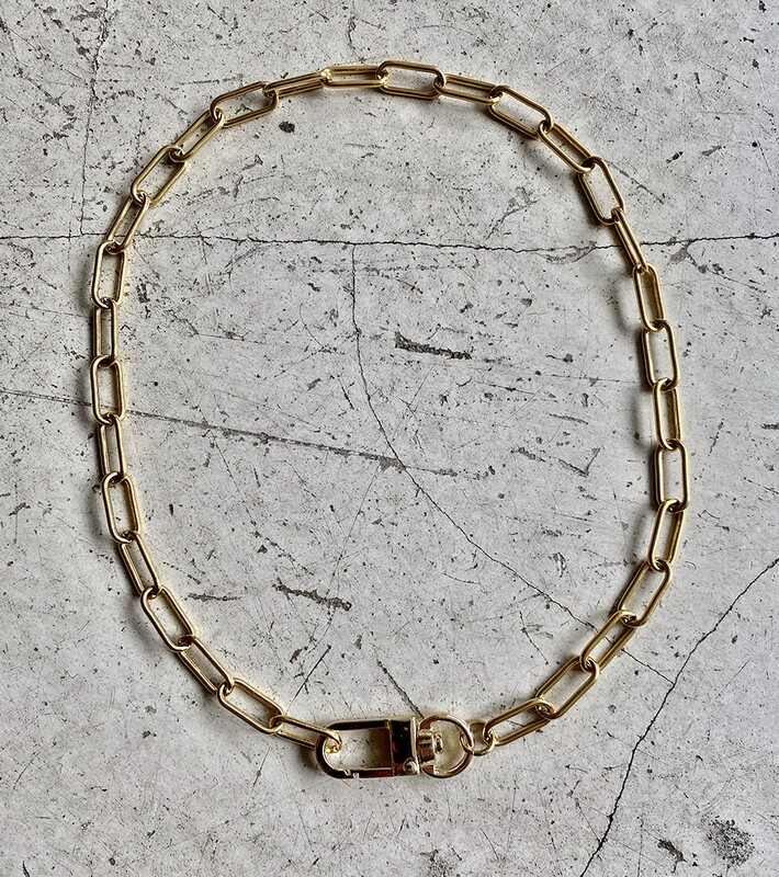 by LC studio Lock Chain Necklace