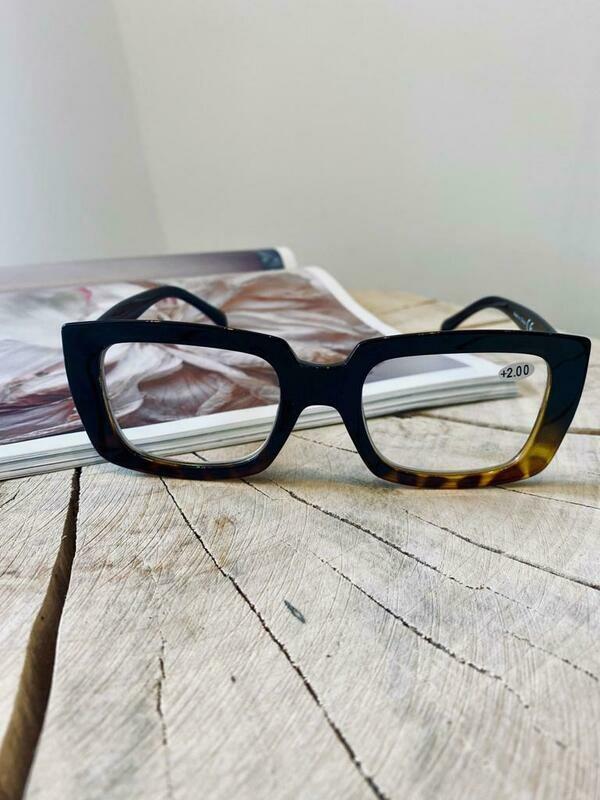 Black/tortoise- effect  Reading glasses