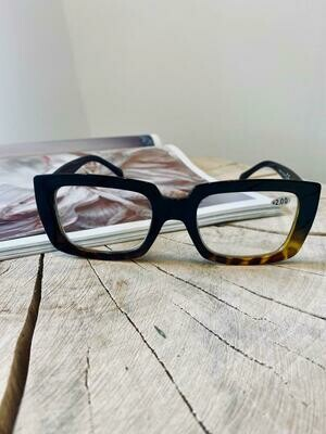 Black/tortoise Reading glasses   +1