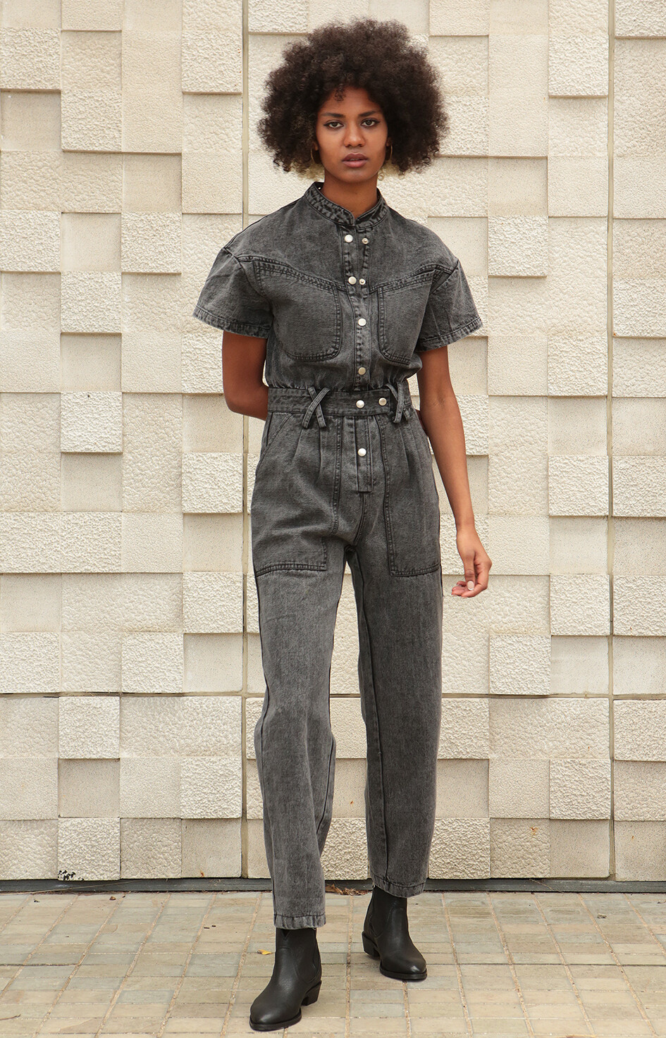by LC studio Acid-wash Denim Jumpsuit