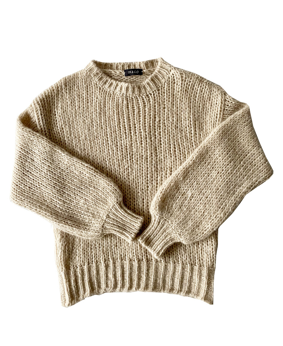 Imago Brushed Cashmere Jumper Almond