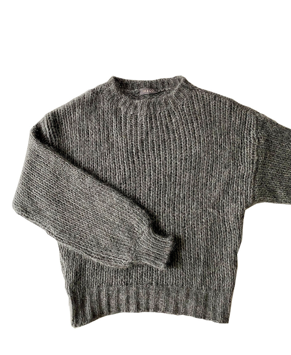 Imago Brushed Cashmere Jumper Grey