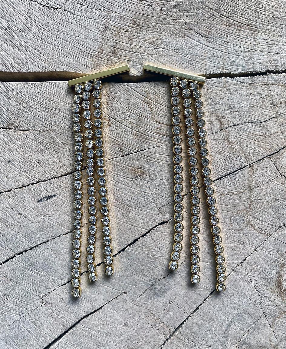 by LC studio Long Fringe Earrings