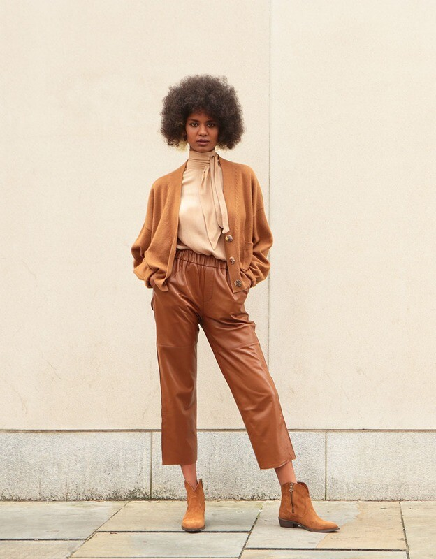 by LC studio Leather Trousers Rust