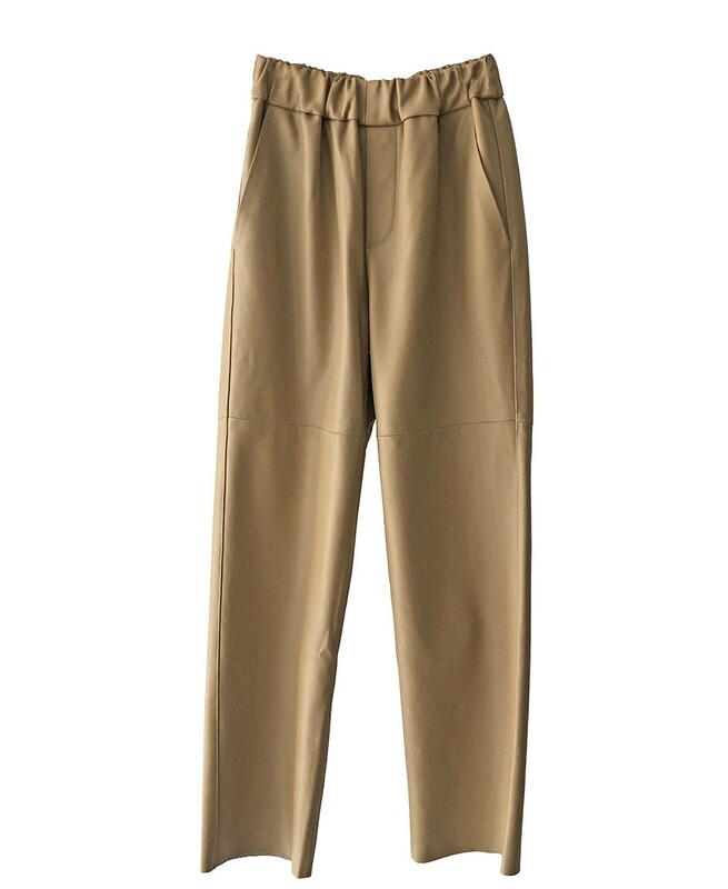 by LC studio Leather Trousers Cream