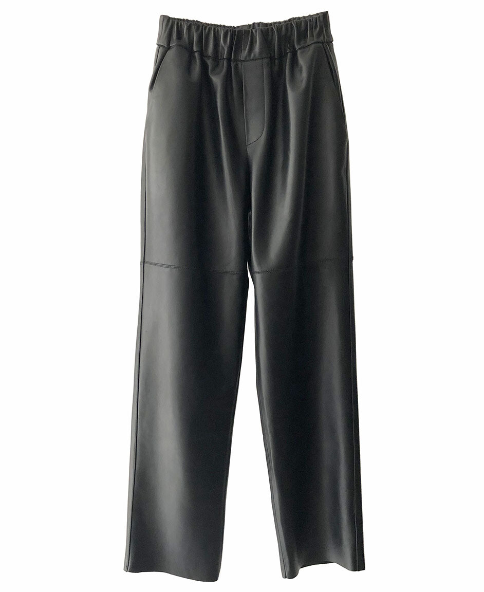by LC studio Leather Trousers Black
