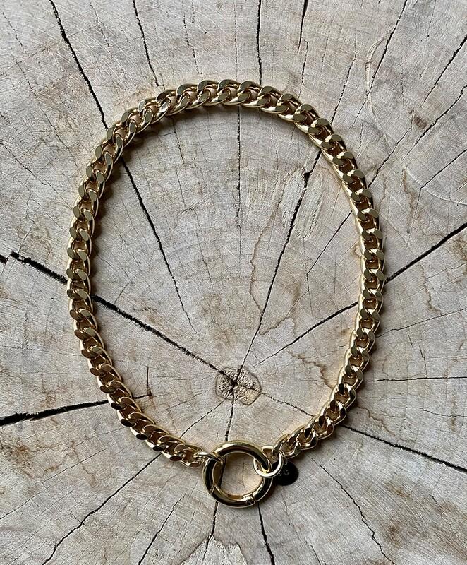SABRINA C. Chain Necklace Gold