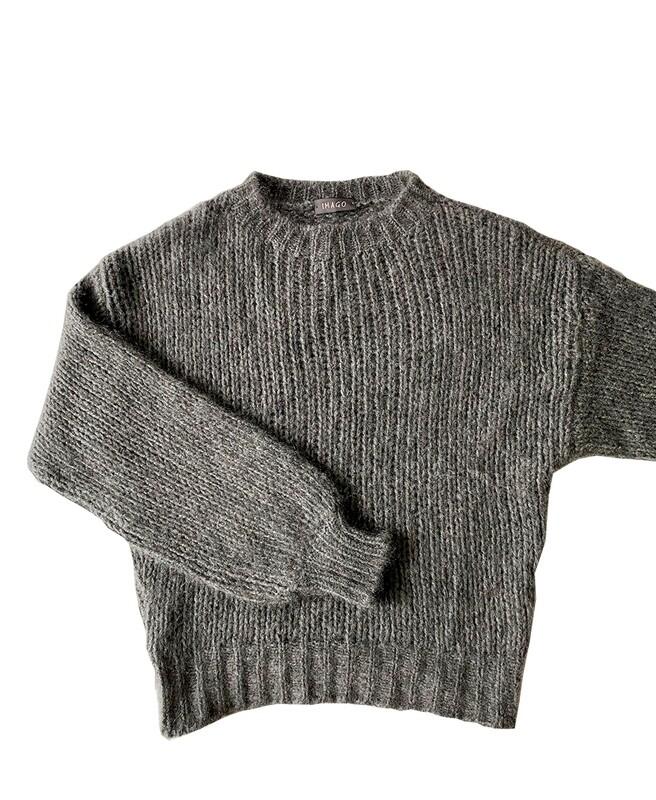 Imago Brushed Cashmere Jumper Grey