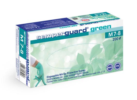Guanti Nitrile SEMPERGUARD GREEN - Size M - 200pz