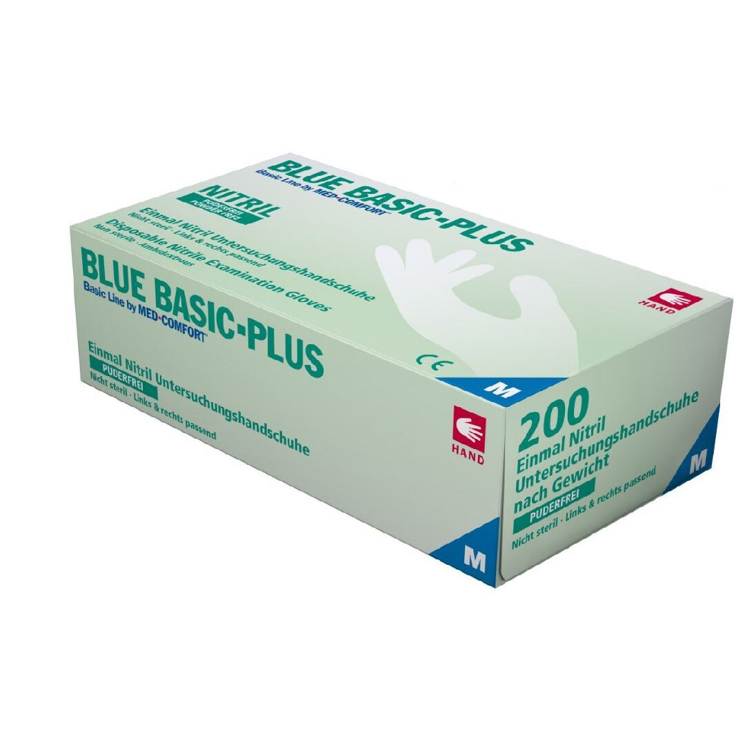 BLUE BASIC PLUS NITRILE - 200 pz (S/M/L)