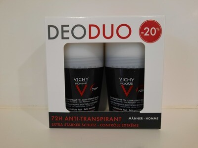 VICHY Homme Antiperspirant extreme control 72H duo 20% roll-on