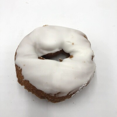 White Iced Cake Donut