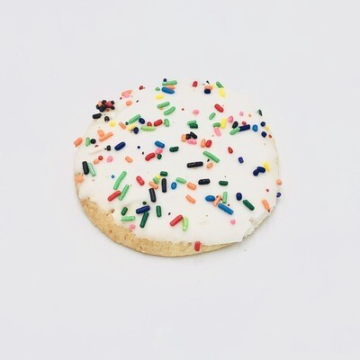 White Iced Round Cut-Out Cookie