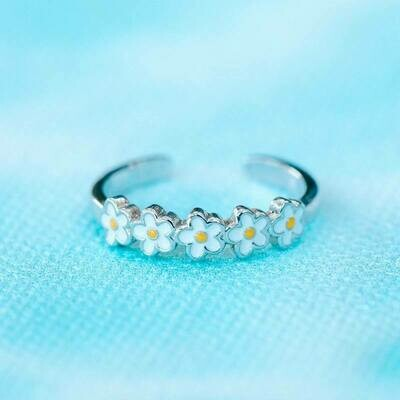 Pura Vida Painted Blooms Toe Ring