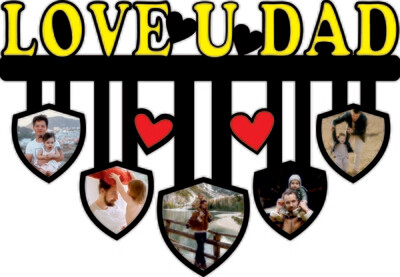 Love U Dad Photo Cutout