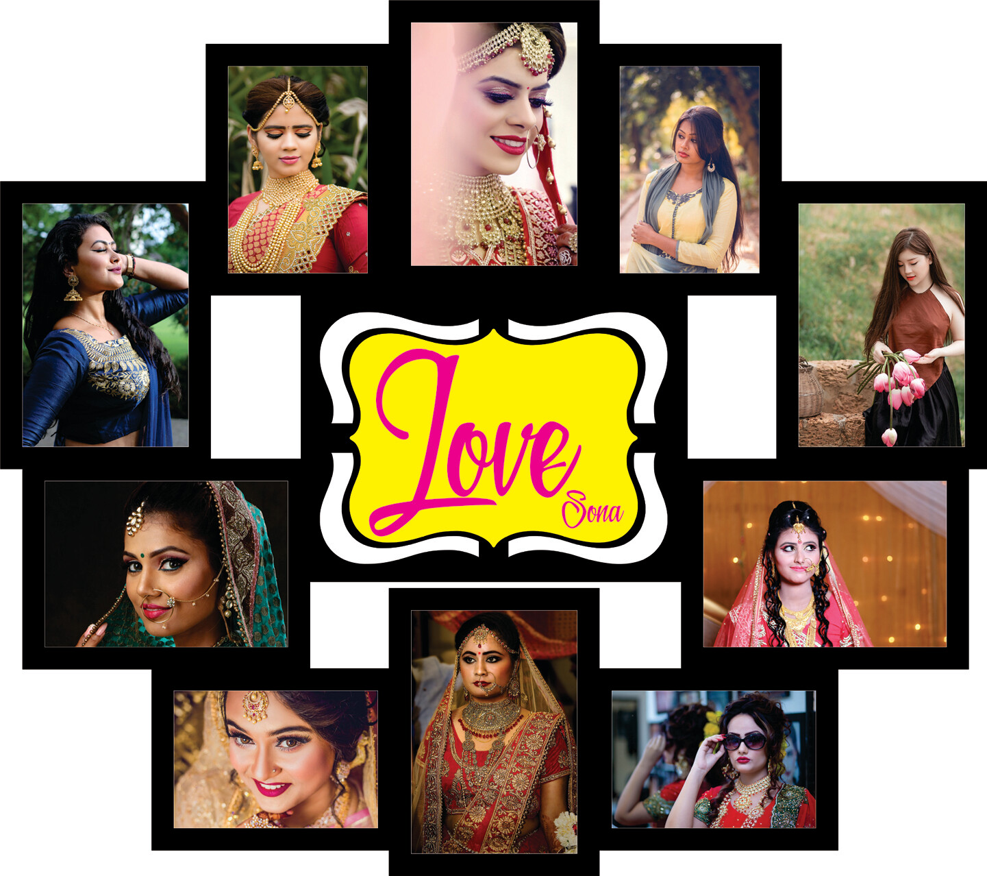 Love Name with Photo Collage