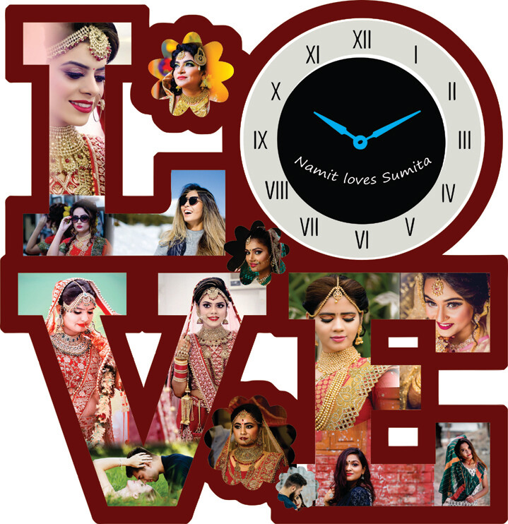 Love Big Wall Clock with Photo