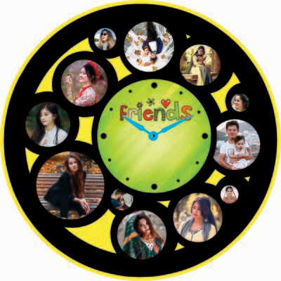 Wall Clock Photo Collage