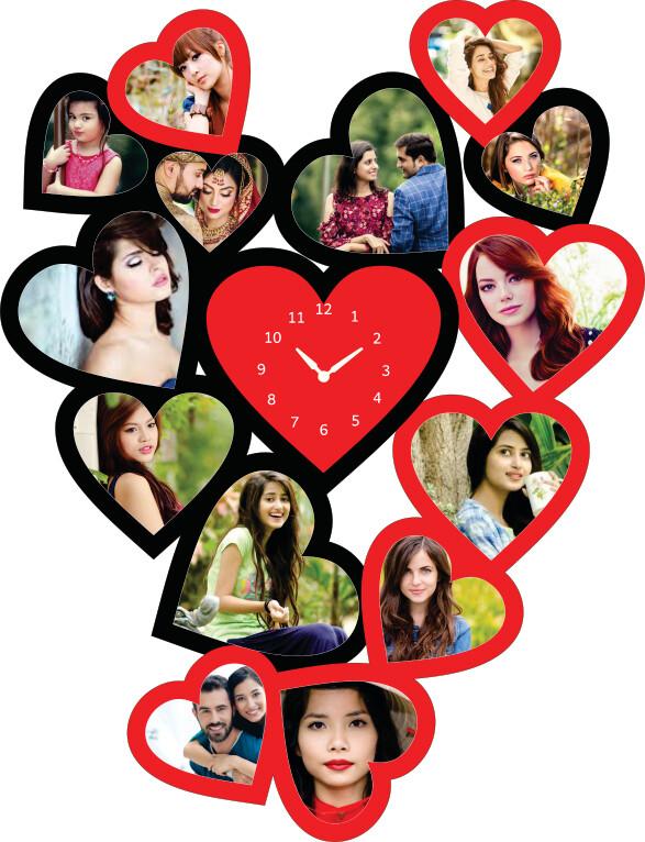 Heart Photo Clock Collage (MT 20002)