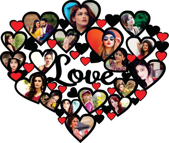 Heart Love Photo Collage (MT 20005)