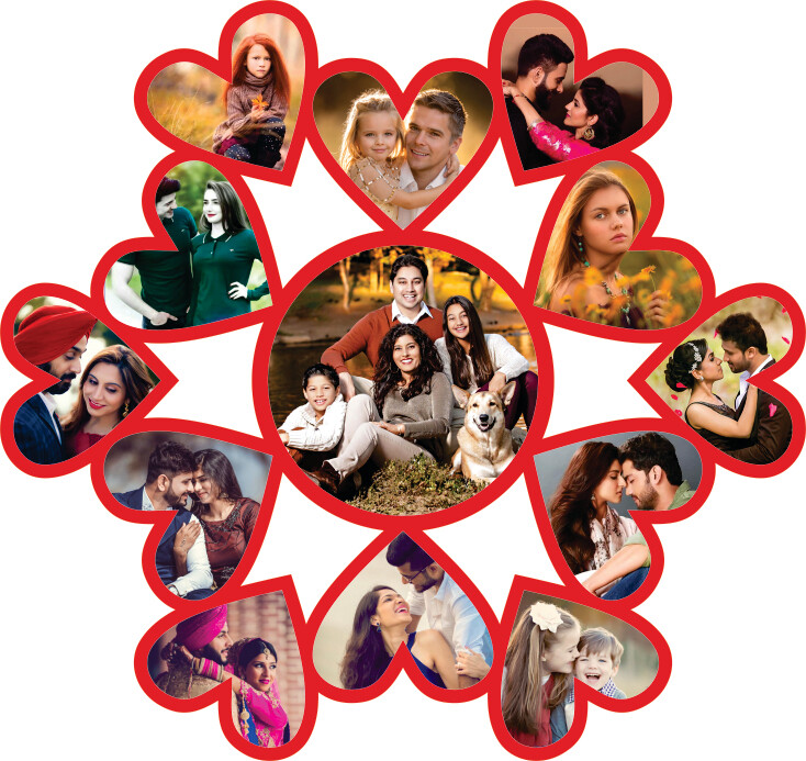 Heart Shaped Photo Collage (MT 20011)