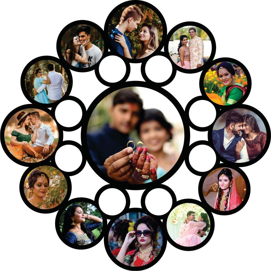 Round Photo Collage (MT 20025)