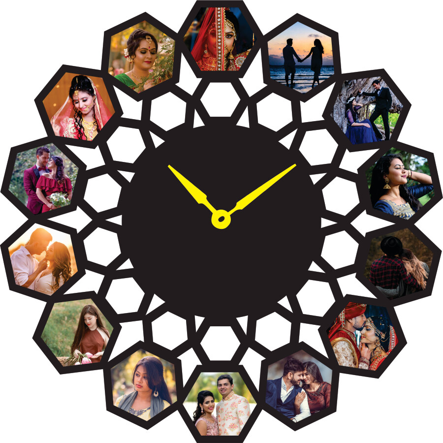 Photo Collage With Clock (MT 20024)