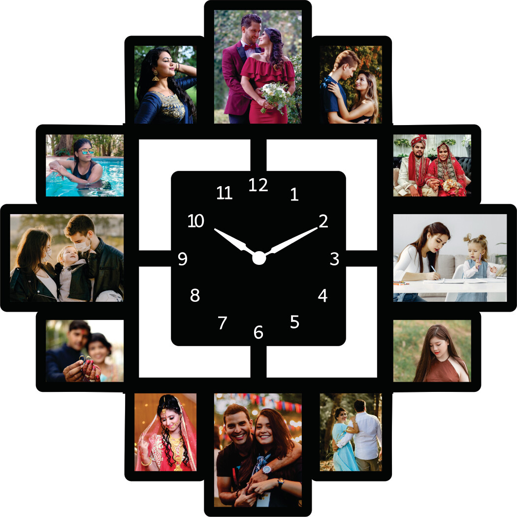Photo Collage  with Clock (MT 20034)