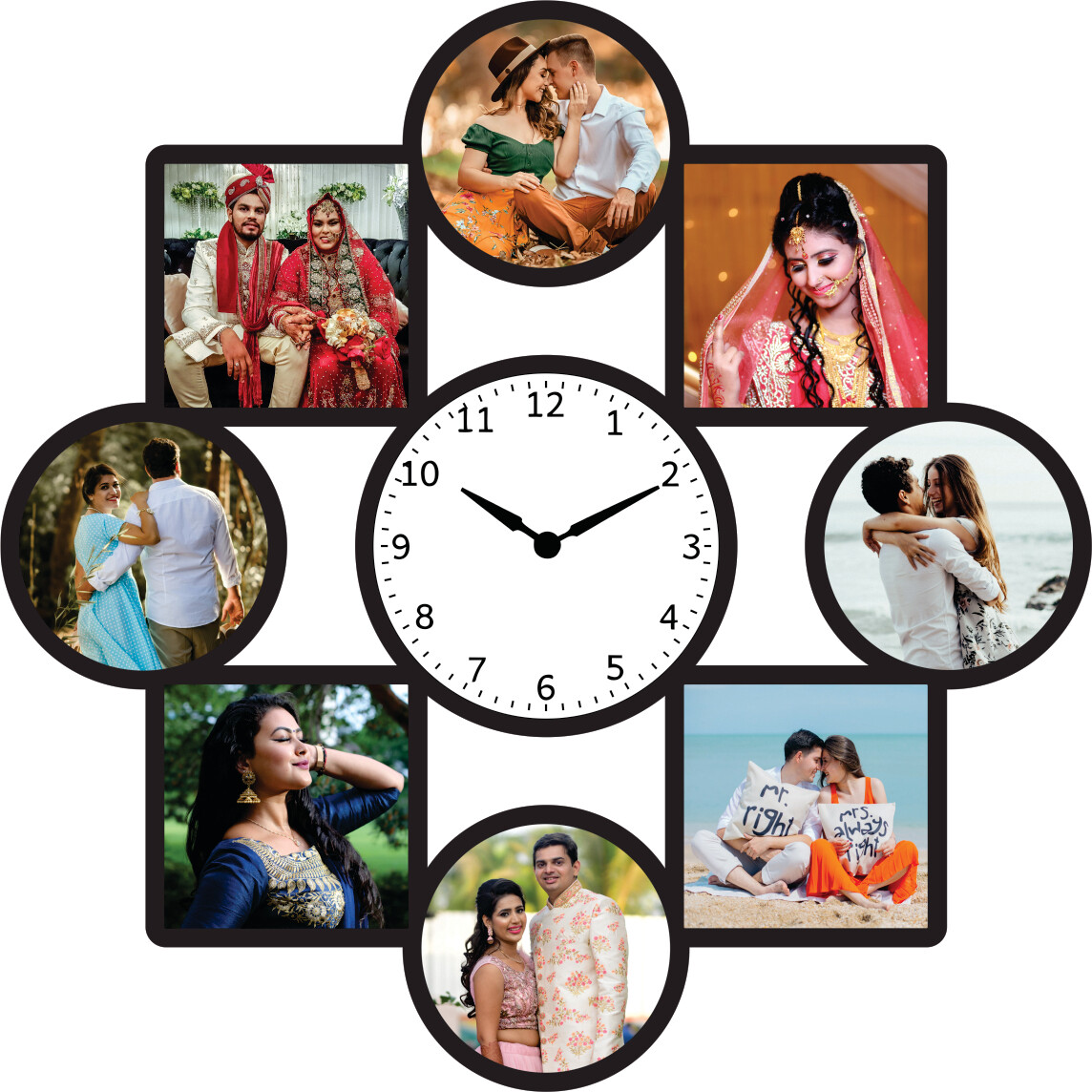 Wall Clock With Photo Collage (MT 20030)