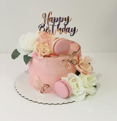 Signature Flowers & Butterflies Cake
