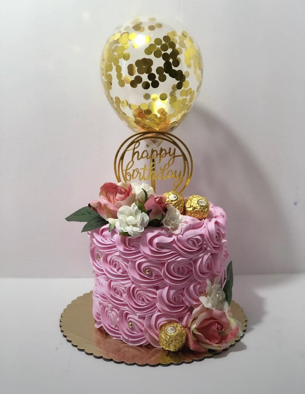 Signature Rosette & Balloon