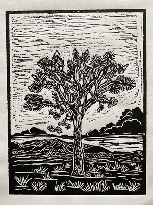 Joshua Tree - Linoleum Print