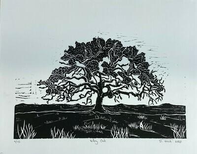 Valley Oak - Linoleum Print