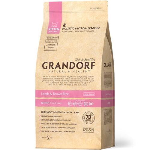 Grandorf Kitten д/котят ягненок рис 2 кг