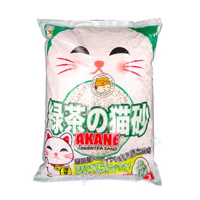 Наполнитель Akane бумажный комкующийся Зеленый чай 7 л
