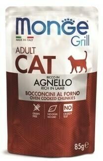 Monge Cat Grill пауч д/кошек новозеландский ягненок 85 г