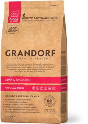Grandorf Dog Medium д/собак ягненок рис 1 кг