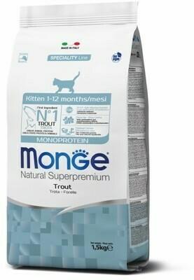 Monge Cat Speciality Kitten д/котят форель 1,5 кг