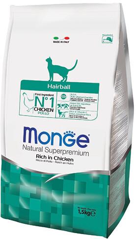 Monge Cat Hairball д/кошек вывод шерсти 1,5 кг