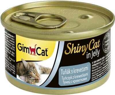 GimCat ShinyCat конс д/кошек из тунца с креветками 70 г