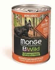 Monge Dog BWild GF конс Mini д/собак мелких утка 400 г